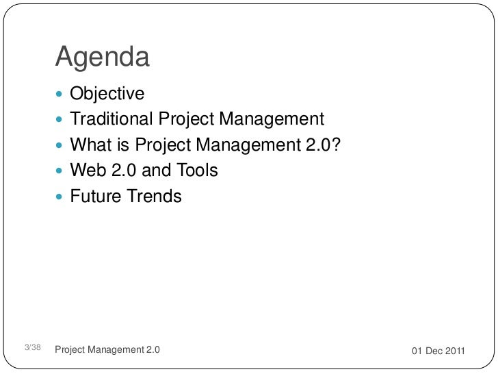 Project management 2.0 Slide 3