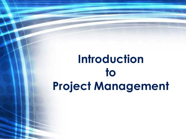 introduction to project managment    new training class