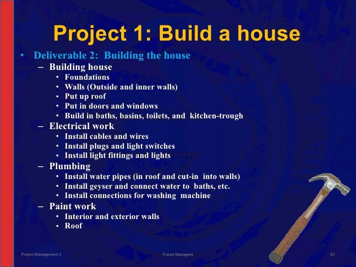 Project managing building a house