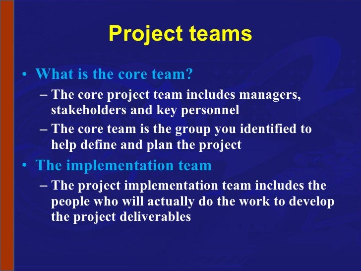 Describe how to implement the project in accordance with agreed specification