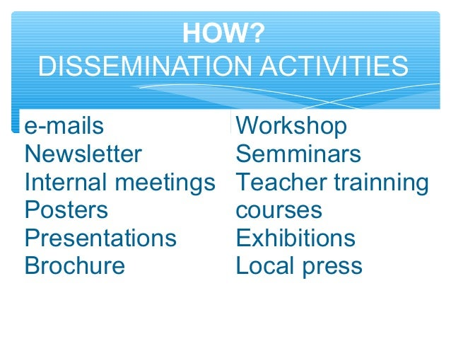 dissemination plan template - project management syell erasmus