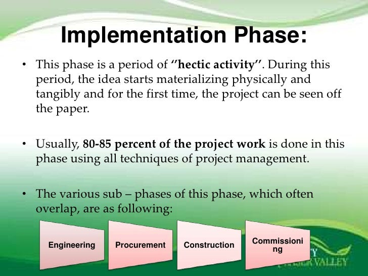 """project implementation control and termination essay Based upon various management approaches, five guiding principles are being   quality improvement initiatives were """"implemented in  is a project that was  accomplished by an employee  30""""the terminators terminate closeouts."""