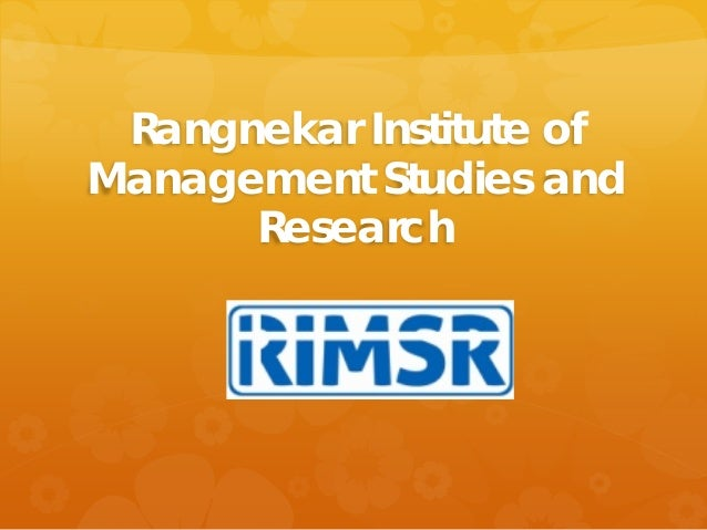 Rangnekar Institute of Management Studies and Research
