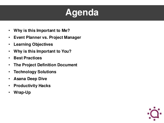 Project Management Bootcamp for Event Professionals
