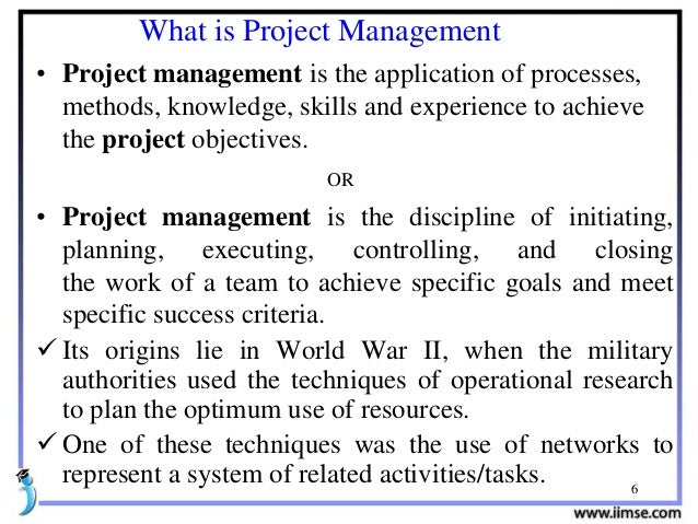 project management tutorial for beginners pdf