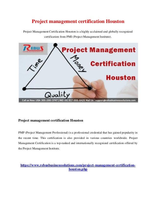 Project management certification houston
