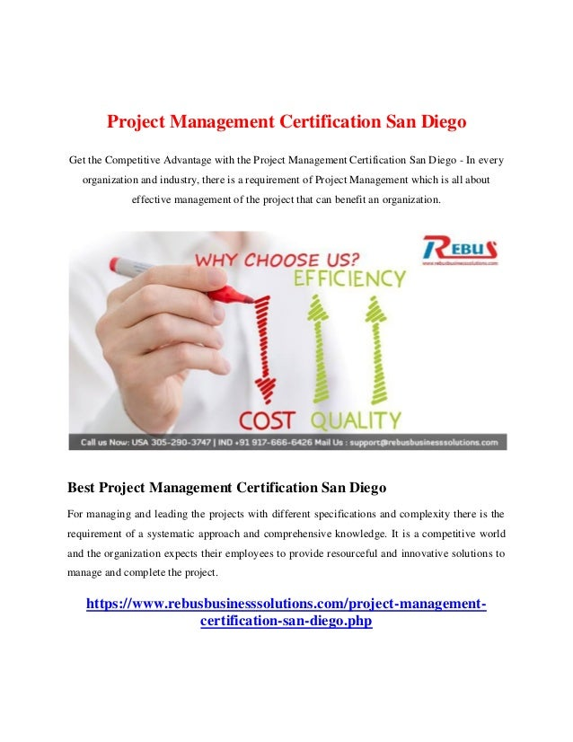 Project Management Certification San Diego