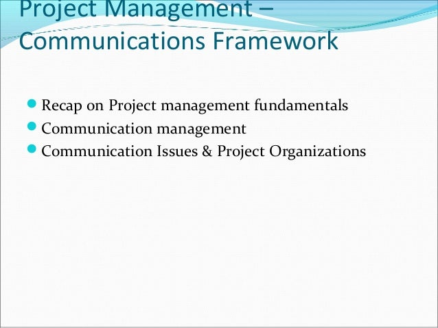 communication project 2 Communication is the most critical element of project success or failure fortunately, communicating project information has become much easier with project 2010.