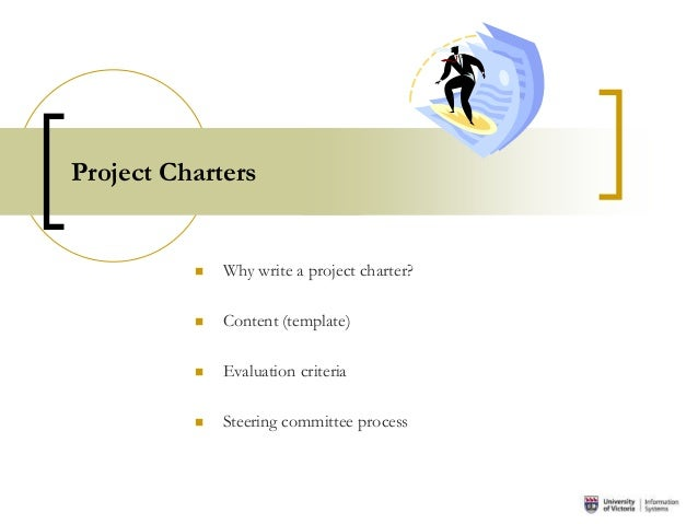 writing a project charter The most important work in the define phase of dmaic is making a project charter in this episode, you can learn how to write a project charter while watchin.