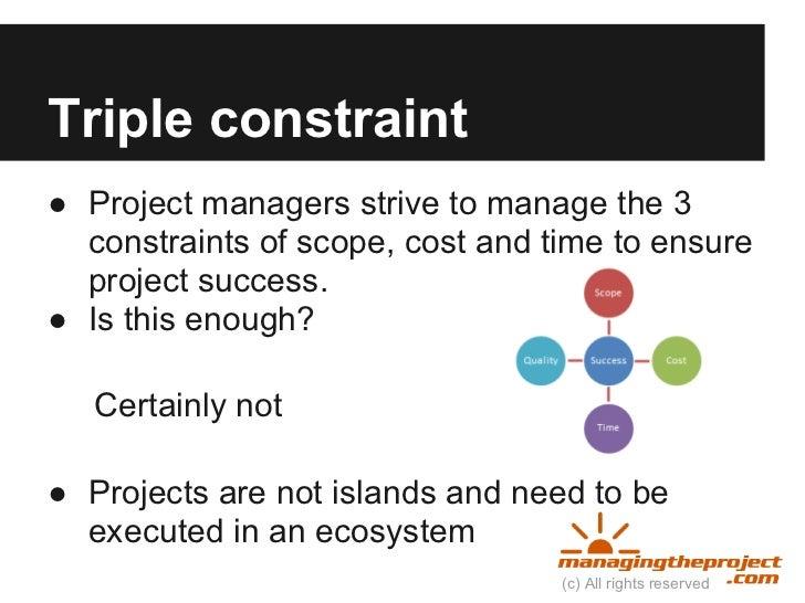 triple constraints for entrepreneurs
