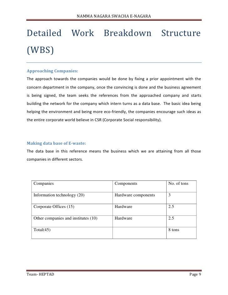 Project management (E - Waste Management)