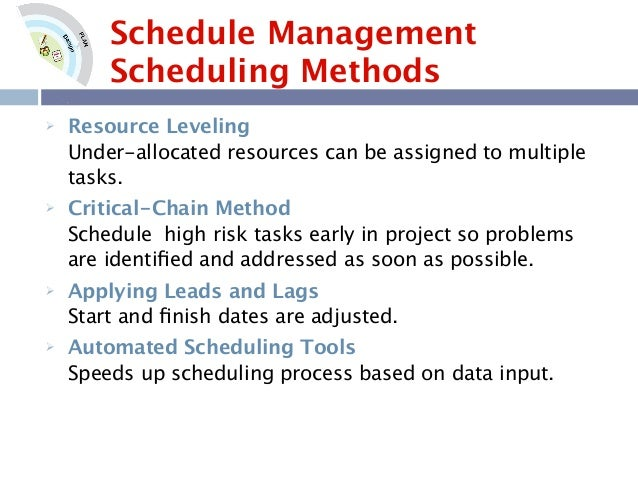 project schedule management plan template