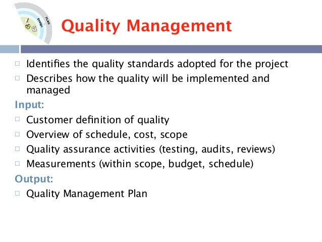 Quality Plan Template Example. quality management template quality ...