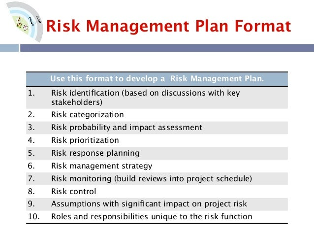Best Sample Risk Management Plan Template Pictures  Best Resume