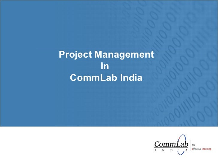 Project Management In  CommLab India
