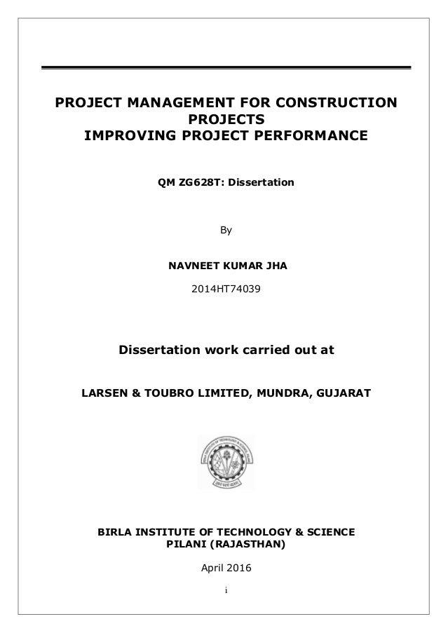 construction dissertation titles