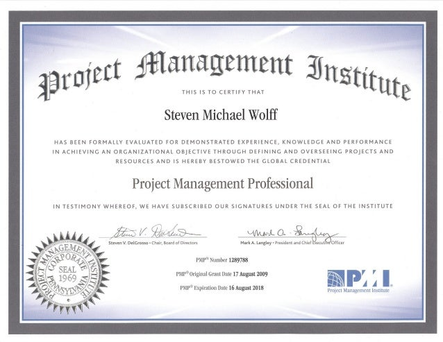 Project Management Institute Pmi Project Management Professional P