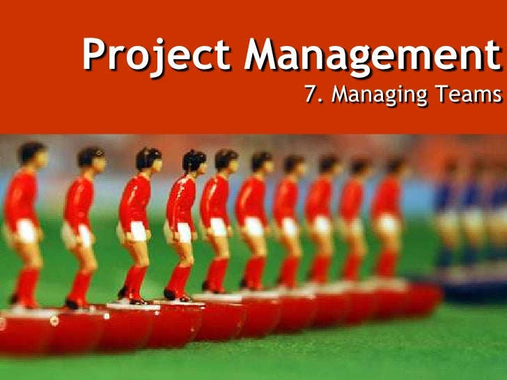 Project Management7. Managing Teams<br />