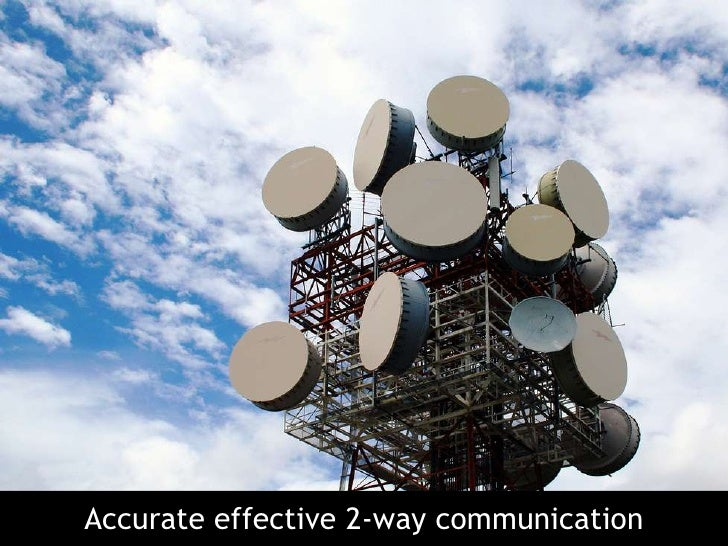 Accurate effective 2-way communication<br />