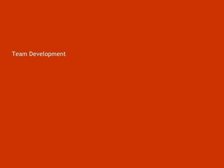 Team Development<br />