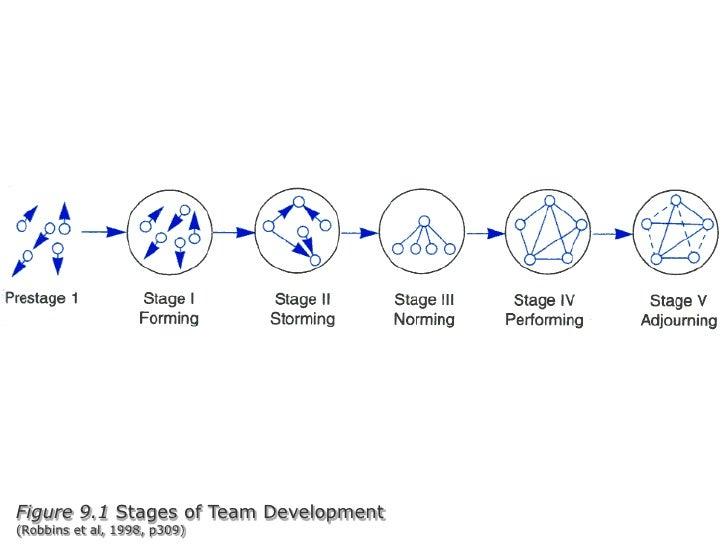 Figure 9.1 Stages of Team Development(Robbins et al, 1998, p309)<br />