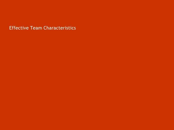Effective Team Characteristics<br />