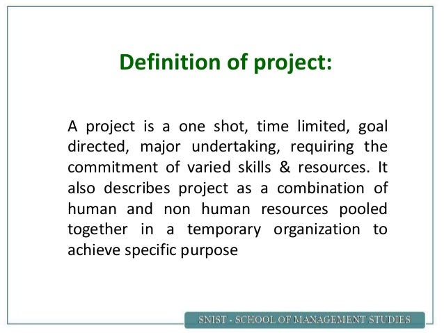 project network analysis