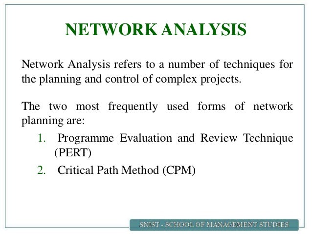 network planning in project management