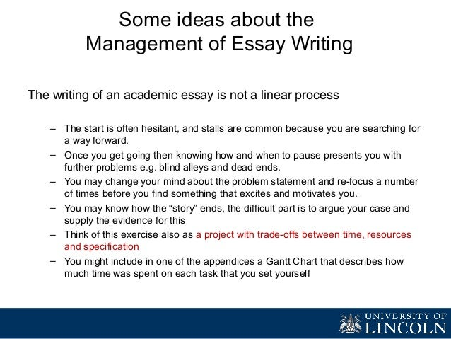project management of a 4000 word essay