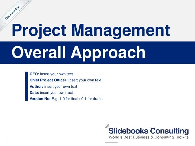 11 Project Management CEO: insert your own text Chief Project Officer: insert your own text Author: insert your own text D...
