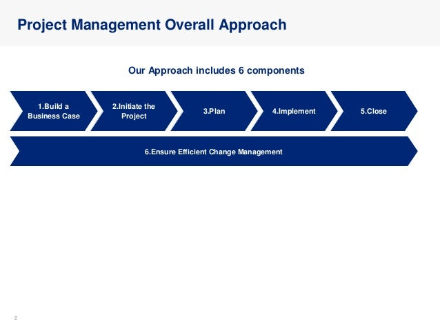 Project Management Overall Approach Slide 2