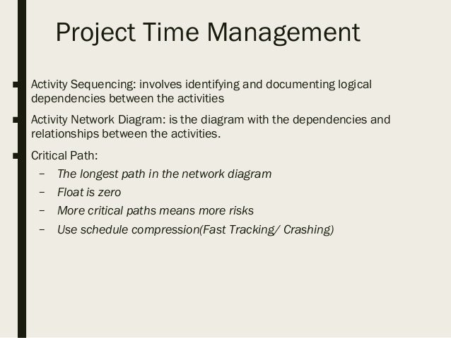 project management overview simple network diagram examples project time management