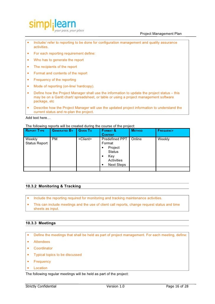 Data Management Policy Template Project Management Plan Template