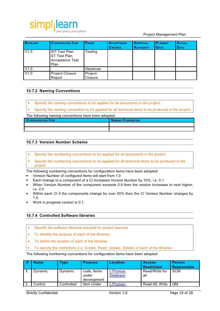 Project management plan template for Numbers project management template