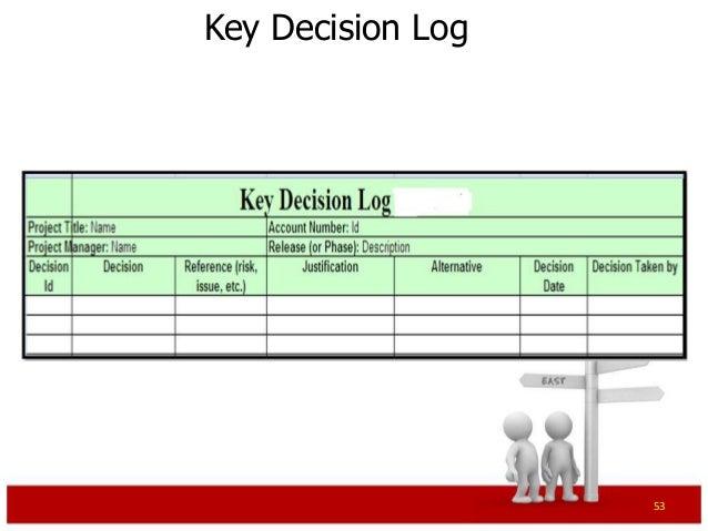 Perfect Key Decision Log 53 ...