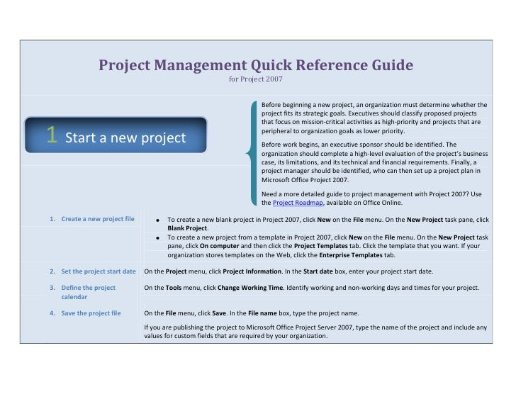 project management quick reference guide for microsoft project 2007 rh slideshare net microsoft project 2007 user guide pdf microsoft project 2007 user guide pdf