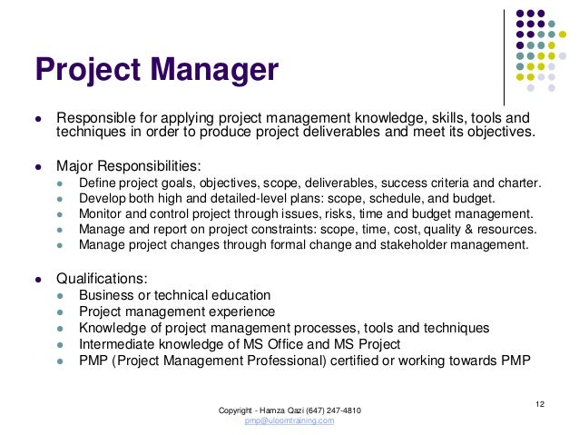 Project management seminar pmbok5 v17 aug2013 - Project management office objectives ...