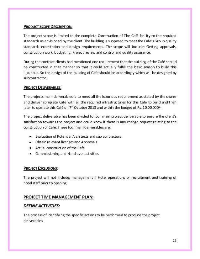 Coffee house project report