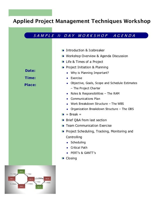 sample workshop agenda template