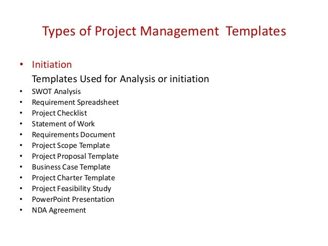 Project management templates 2 types of project management templates flashek Images