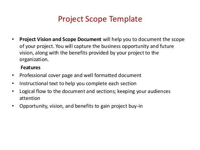 project scope document template