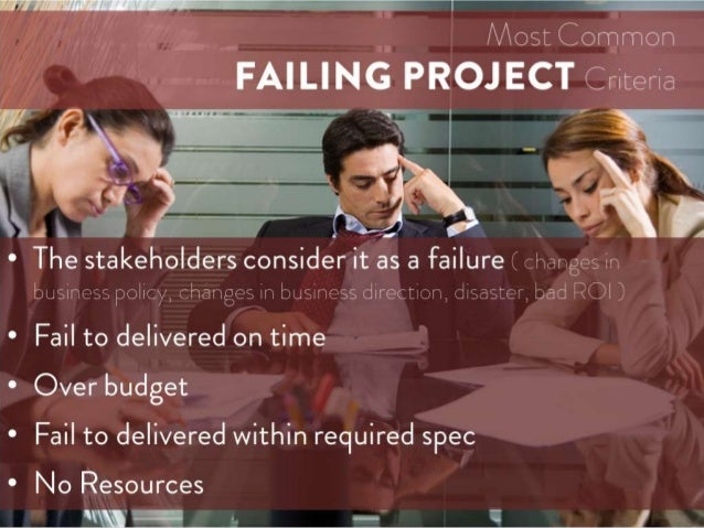 Project Management Tips -  Taking Over Failing Projects Slide 2