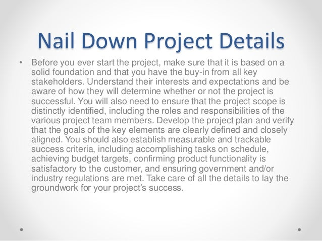 Project Management Successful Tips and Tricks Slide 3