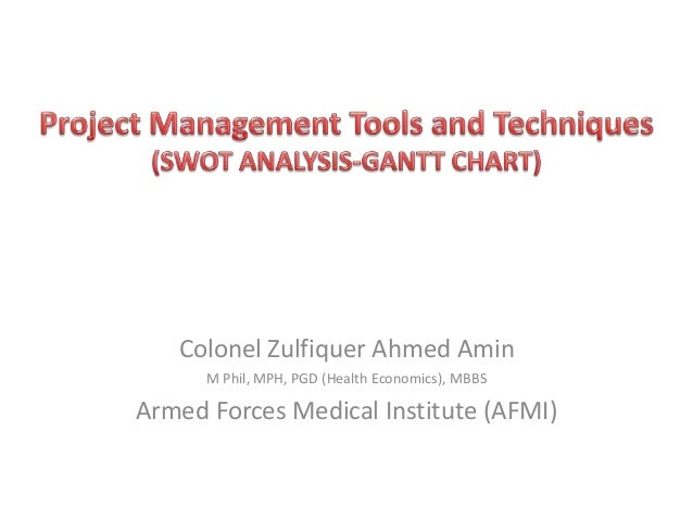 project management tools and techniques  swot