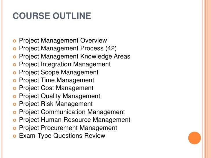 Project Management Training Brochure