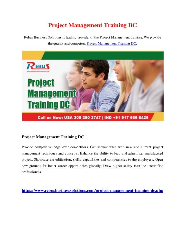 Project Management Training DC Rebus Business Solutions is leading provider of the Project Management training. We provide...