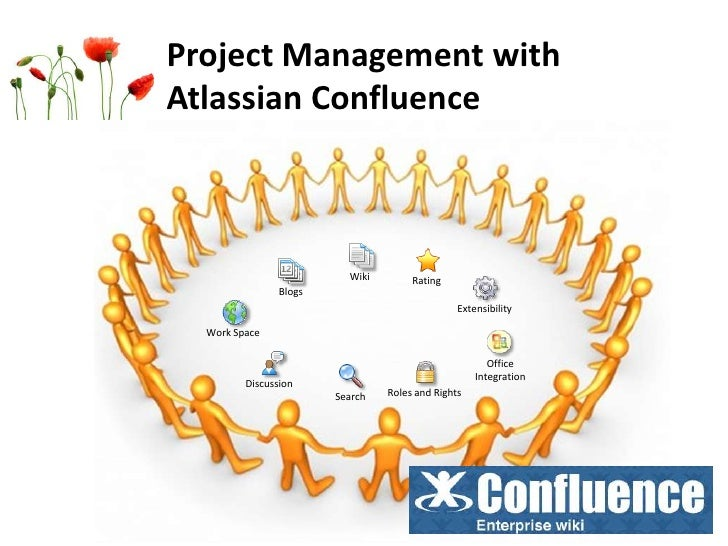 Project Management with Atlassian Confluence<br />Wiki<br />Rating<br />Blogs<br />Extensibility<br />Work Space<br />Offi...