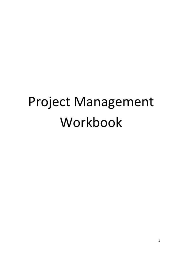 Project Management     Workbook                     1