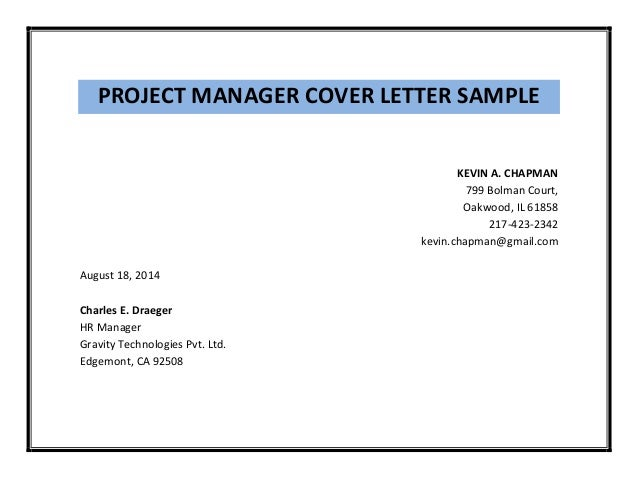 sample cover letter for project officer - project manager cover letter sample pdf
