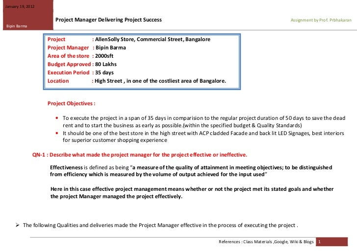 January 19, 2012                       Project Manager Delivering Project Success                                         ...